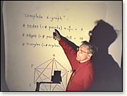 E. W. Dijkstra lecturing with hand-written overhead foils